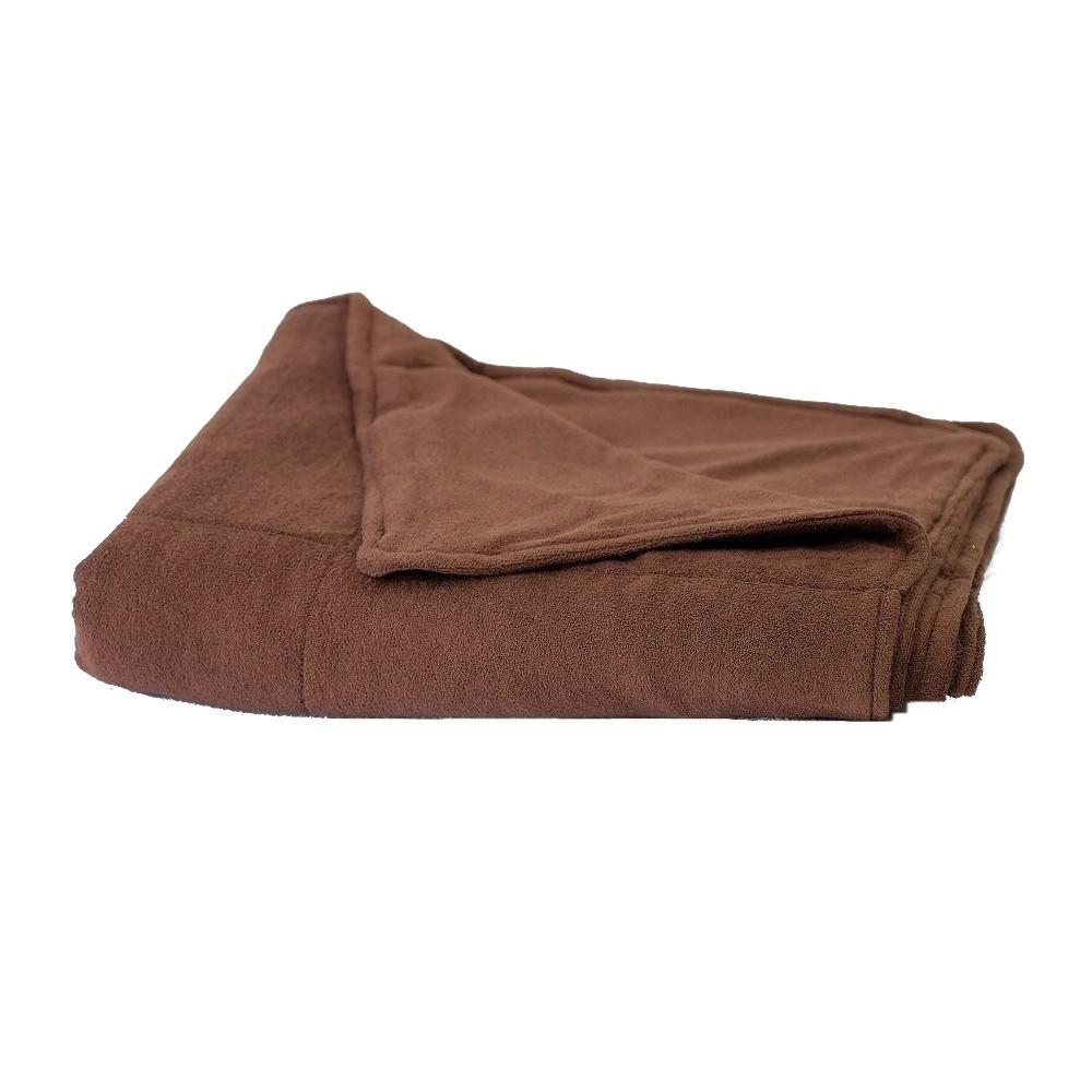 Kołderka zabiegowa frotte czekoladowy 100x180cm