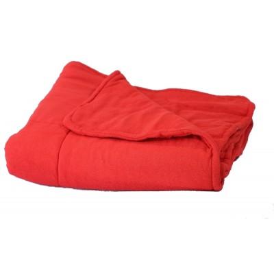 Kołderka zabiegowa frotte czerwony 100x180cm