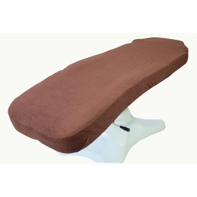 Prześcieradło frotte na fotel czekoladowy 60x190cm