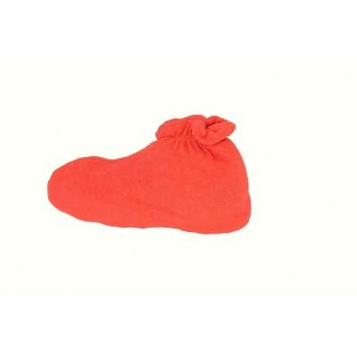 Skarpeta kosmetyczna frotte czerwony 1 para