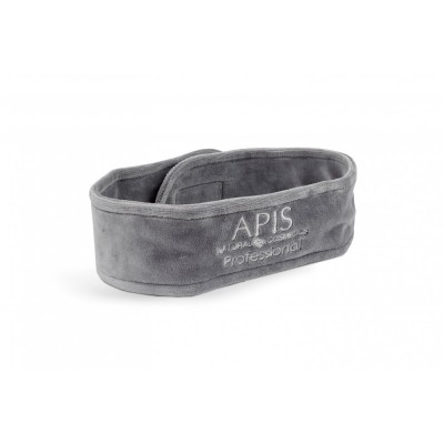Opaska kosmetyczna frotte szara z logo APIS