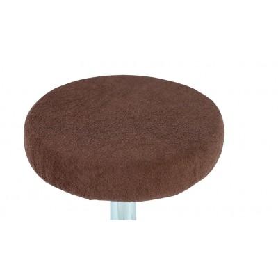 Pokrowiec na taboret frotte czekoladowy 30-40cm