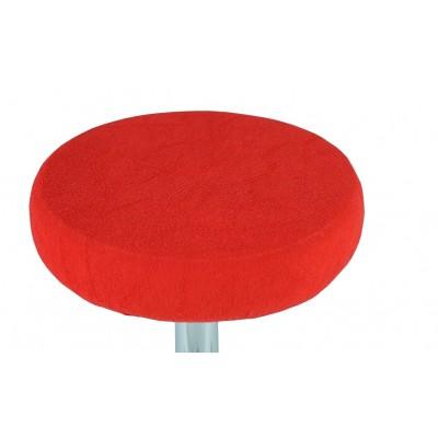 Pokrowiec na taboret frotte czerwony 30-40cm