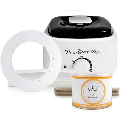 Zestaw podgrzewacz do wosku w puszce + wosk + paski