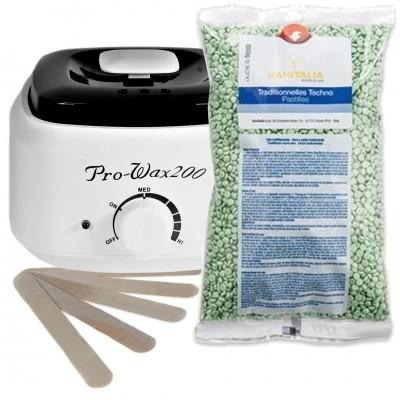 Zestaw do Depilacji Green Tea Beauty -  Podgrzewacz + Wosk 1kg + szpatuły