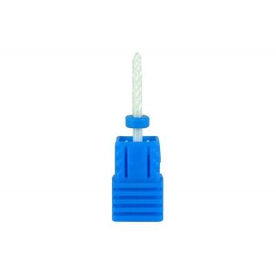 Frez ceramiczny szpic zaokrągl. - średni/niebieski