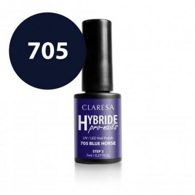 Claresa lakier hybrydowy - blue horse 705