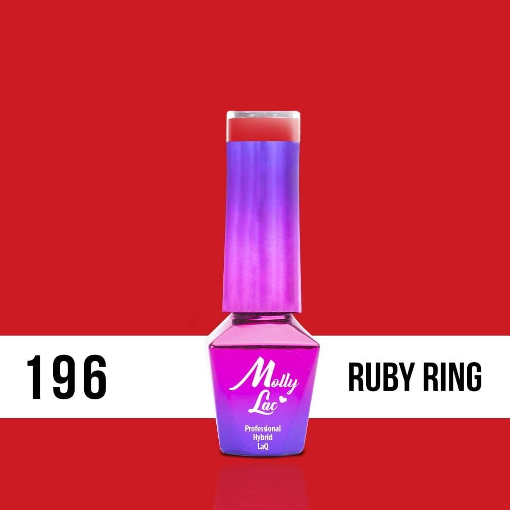 LAKIER MOLLY LAC HEARTS&KISSES RUBY RING 5ml nr196