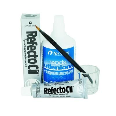 Zestaw do brwi i rzęs henna żelowa grafit RefectoC