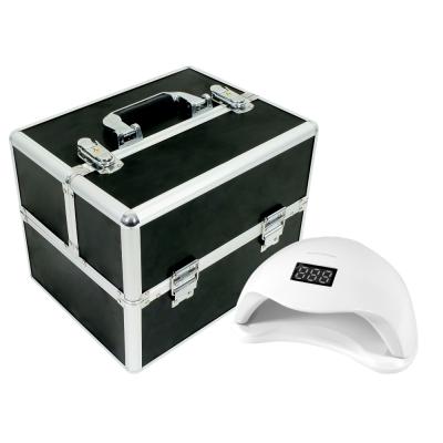 Zestaw kuferek czarny mały + lampa UV LED 48W