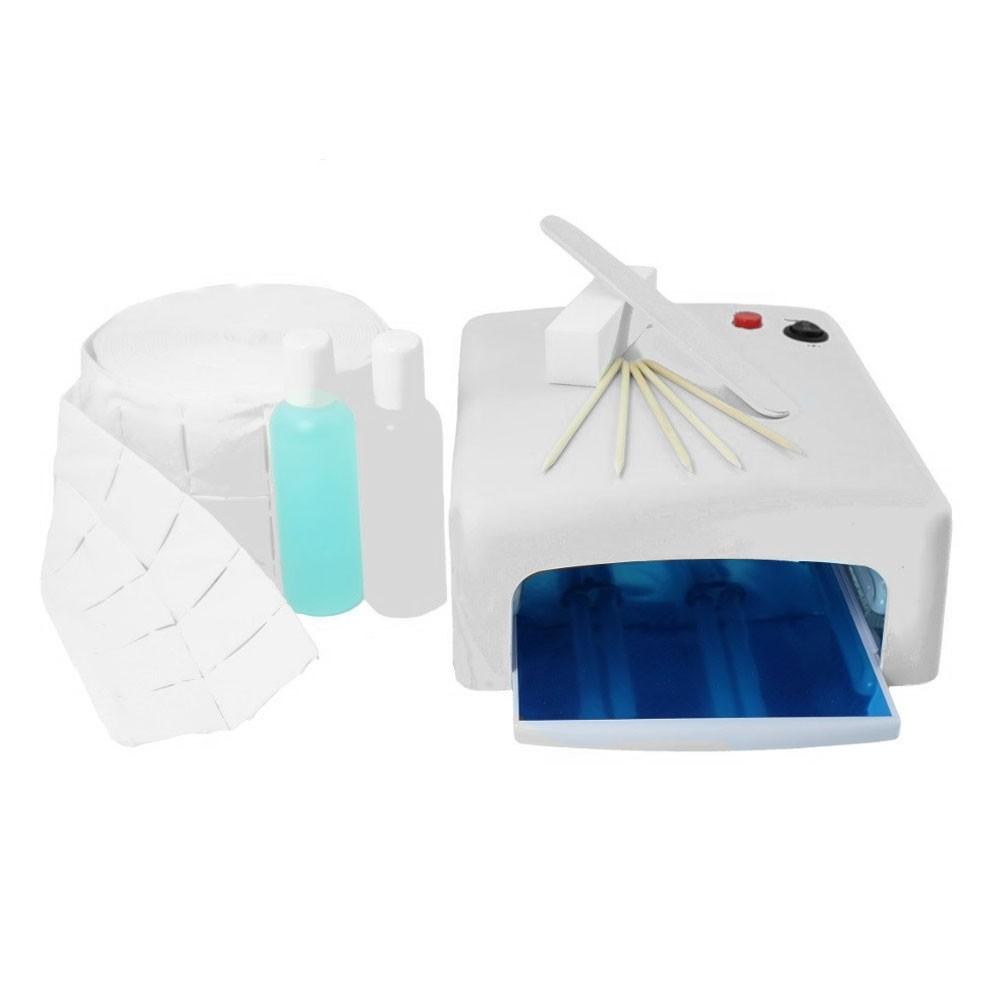 Zestaw do manicure hybrydowego lampa UV  MEGA