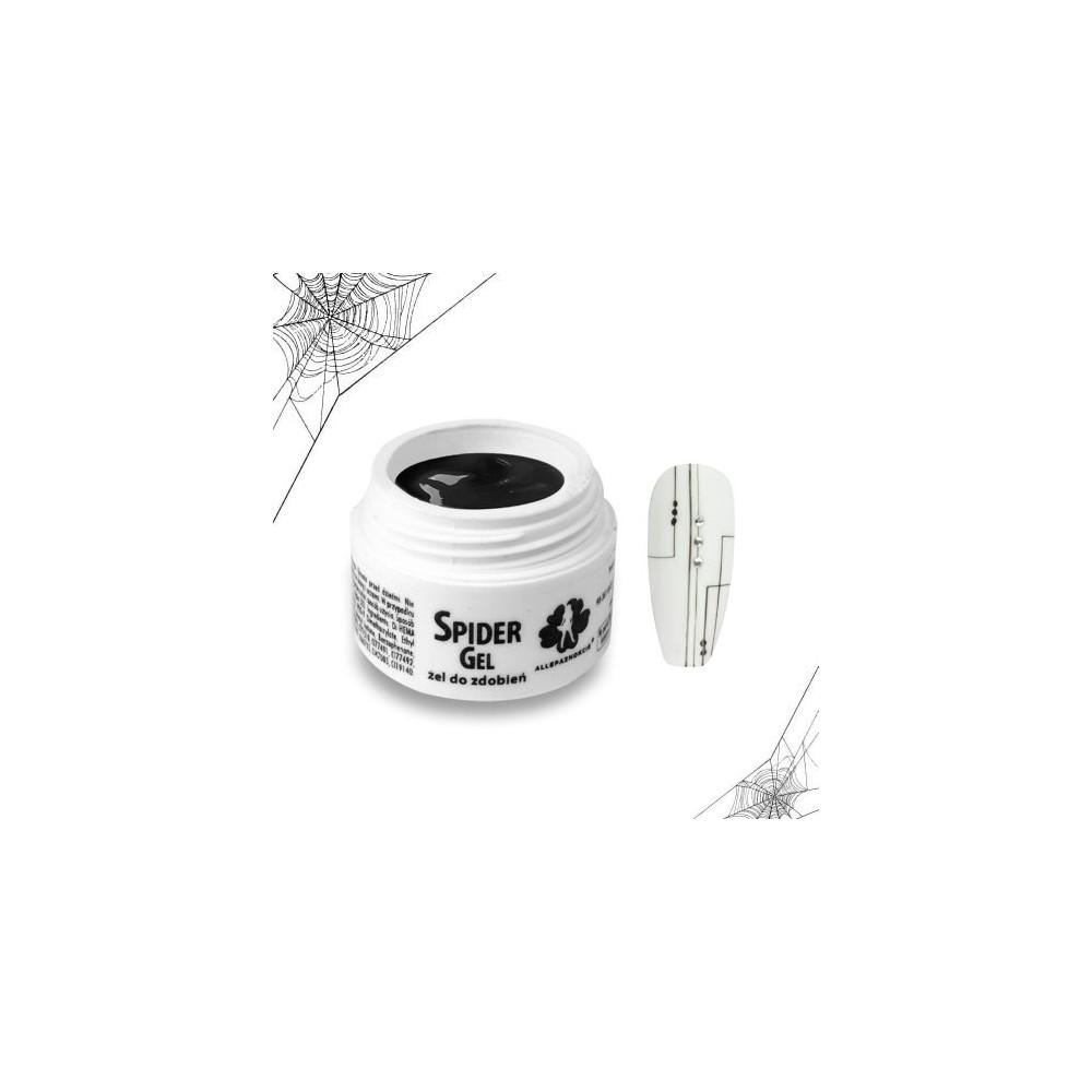 Żel do zdobień Spider Gel Black 3ml